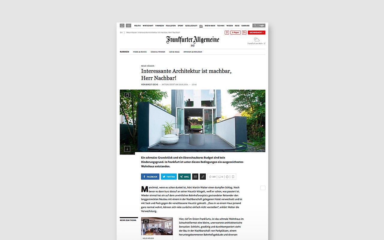 Frankfurter Allgemeine Zeitung - Haus W
